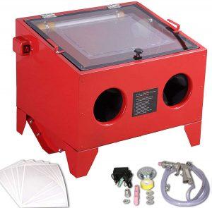 Cabine de Sablage Sableuse microbilleuse perle sable grit 90L +accessoires
